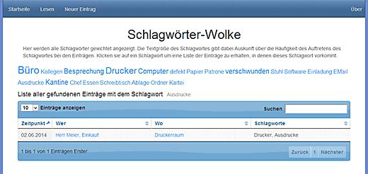 Node-Webkit Anwendung Mobbing Tagebuch